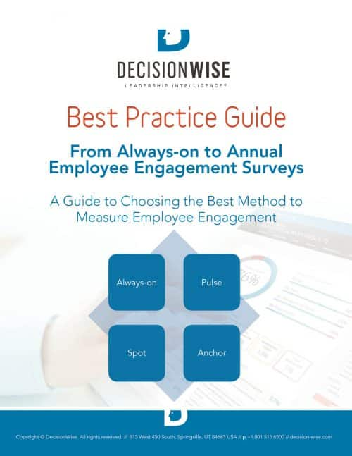 DecisionWise-Best Practice Guide-Best Method to Measure Employee Engagement