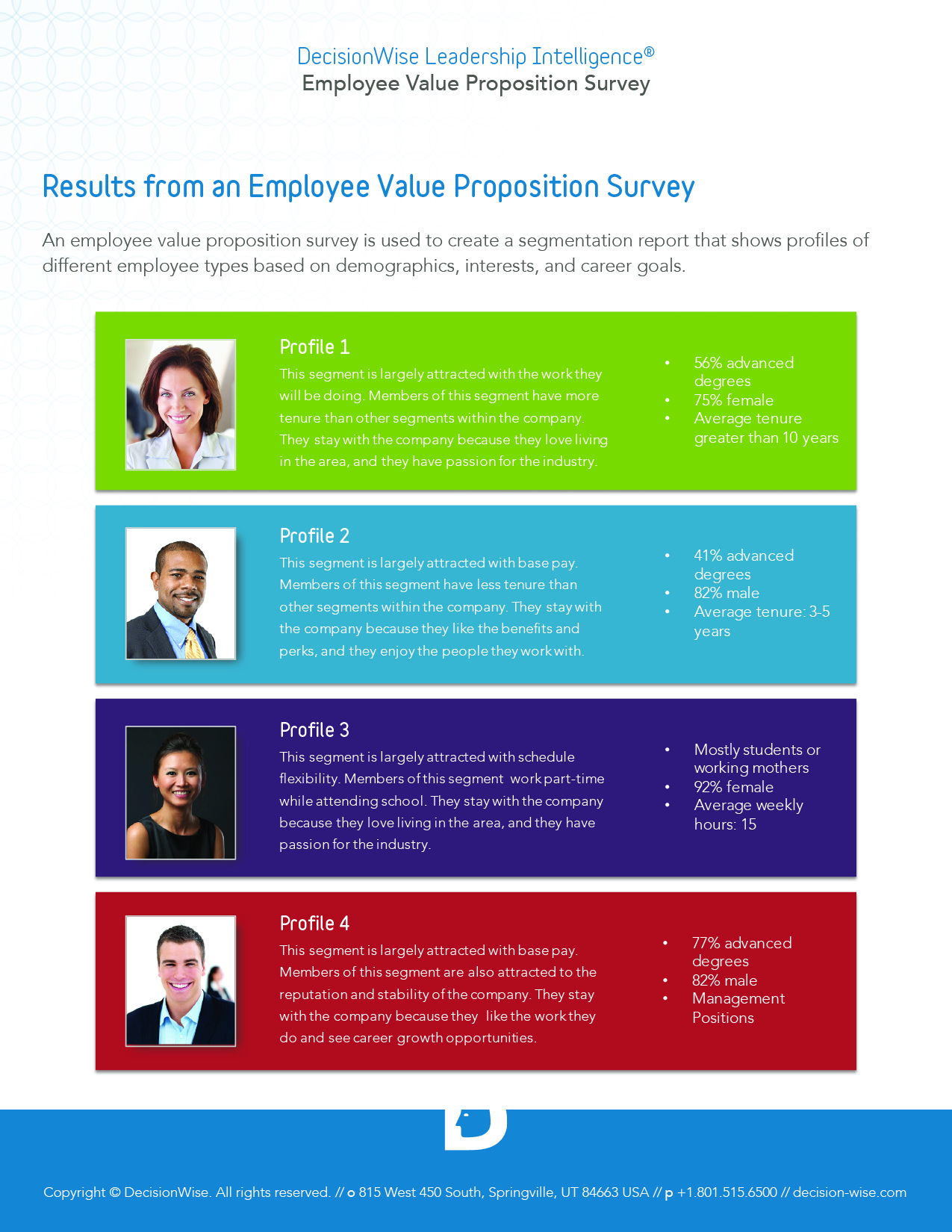 Employee Value Proposition Report Page