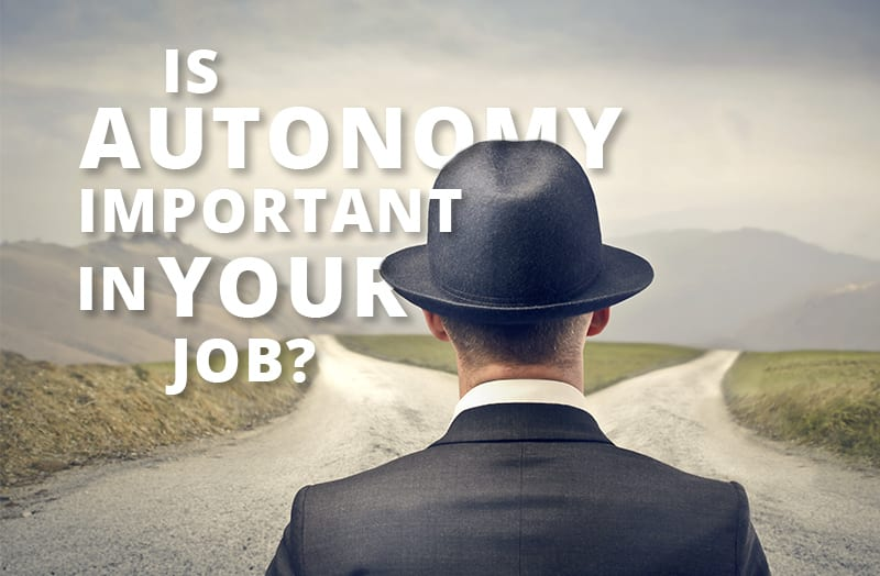 Is Autonomy Important in Your Job?